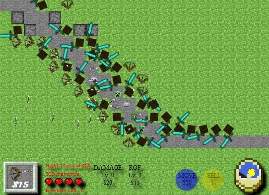minecraft tower defense 3